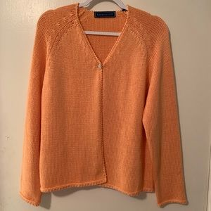 Macy's Karen Scott Peach Single Button Sweater